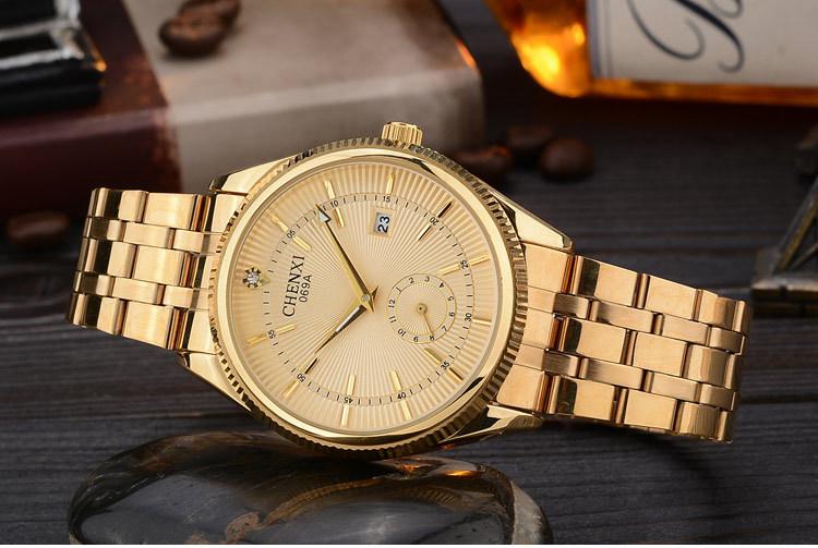 Chenxi Gold Watch Men Watches Top Brand Luxury Famous Wristwatch