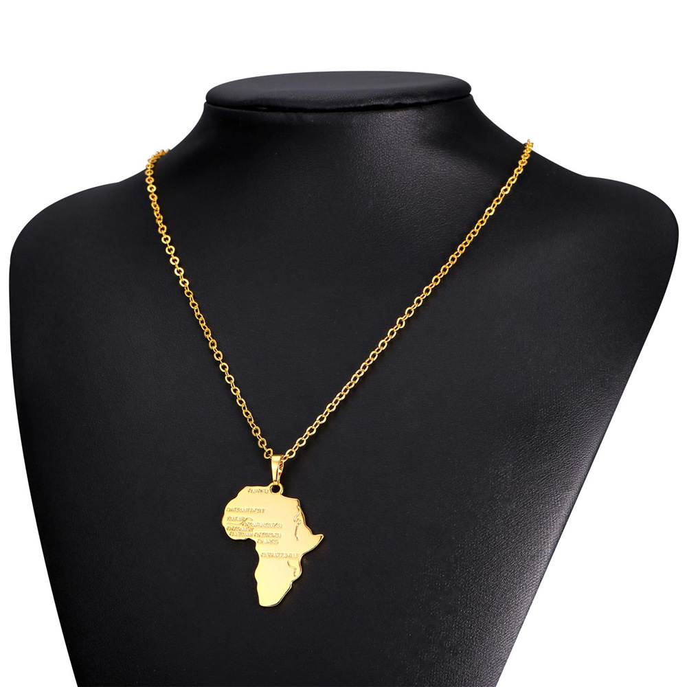 Africa necklace silvergold color pendant aloadofball Images