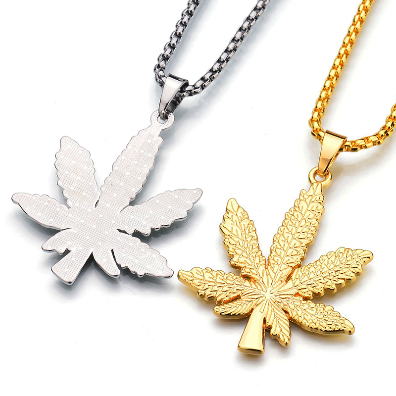 2017 new iced out weed necklacependant silver plated maple leaf pendant aloadofball Gallery