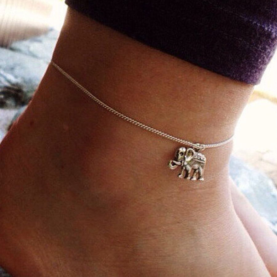 new leg from barefoot bracelet ankle in tassel cheville flower jewelry anklet silver bohemian plated sandals bracelets real color anklets chaine vintage item